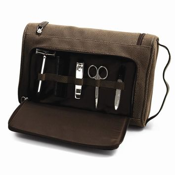 Hanging Toiletry Bag with 5 Piece Manicure & Grooming Set