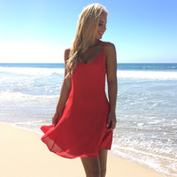 Catch My Eye Dress in Red