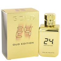 24 Gold Oud Edition by ScentStory Gift Set -- 24 Gold 1.7 oz Eau De Toilette Spray + 24 Gold Oud 1.7 oz Eau De Toilette Spray (Men)