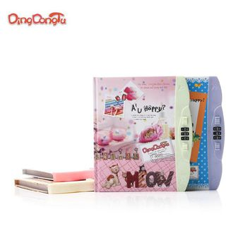 """Hot """"Good times""""  Personal Diary with lock code School Diary Cute notebook paper 96 sheets Office School Supplies note book gift"""