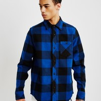 The Hundreds Highland Long Sleeve Flannel Shirt Blue - Shop at The Idle Man