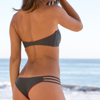 Mary Grace Swim - Camilla Reversible Bottom / Anthracite