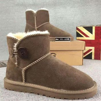 UGG Fashion Trending Woman Fur Leather Shoes Boots Winter Half Boots Shoes G-XYXY-FTQ-1