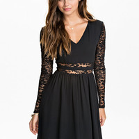 Lace Midriff Dress - Nly Trend - Black - Party Dresses - Clothing - Women - Nelly.com
