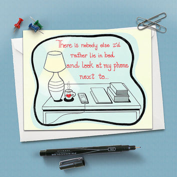 Anniversary Greeting Card - There is no one else I'd rather - 4.25 X5.25 folding card - Adult Humor- Love, relationships, anniversary