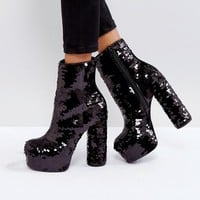 ASOS ELECTRIFYING Platform Ankle Boots at asos.com