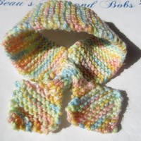 Pastel Baby Scarf Bow Tie