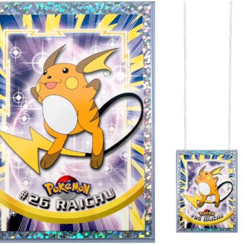 VINTAGE Pokemon Card Necklace - Raichu