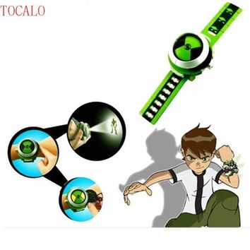 Anime Action Figure Ben 10 Style Japan Projector Watch BAN DAI Genuine Toys Slide Show Watchband