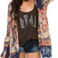 RVCA LYCIA FRINGE DETAIL COVER-UP | Swell.com