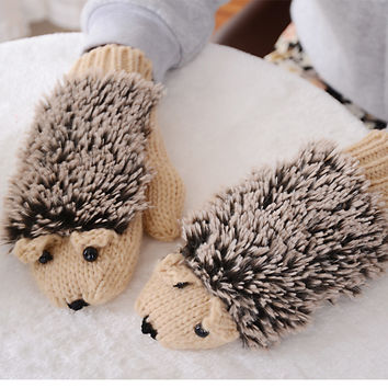 Hedgehog Winter Cotton Gloves 8 Colors