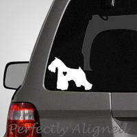 Love your Miniature Schnauzer  silhouette with by PerfectlyAligned