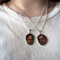 Michael Scott and Dwight Schrute Best Friend necklace set (the office)