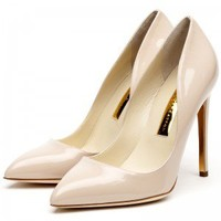 Rupert Sanderson | Elba in Nude Patent  | High Heel Pumps