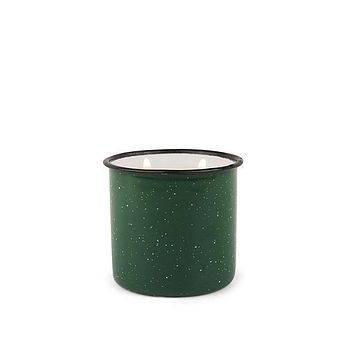 PADDYWAX ALPINE 9.5 OZ GREEN EVERGREEN & EMBERS ENAMELWARE