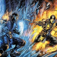 Mortal Kombat X Comic Book Sub-Zero vs. Scorpion video game poster 24x18