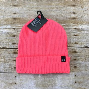 Under Armour Cold Gear Neon Pink Beanie