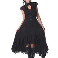 JAWBREAKER ROMANTIC GOTHIC VAMPIRE LONG DRESS GOTH EVENING COWBOY VICTORIAN PROM