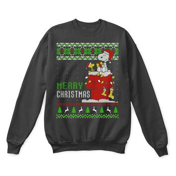 SPBEST Peanuts Wish You A Merry Christmas Woodstock And Snoopy Ugly Sweater