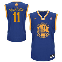 Klay Thompson Golden State Warriors adidas Replica Road Jersey - Royal Blue