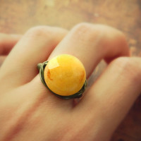 Yellow Quartz Ring. Gemstone - Size 8 - Wire Wrapped - Gold, Yellow, Mustard, Brown, Rustic, Faceted, Jewelry Rings, Cocktail Rings, Stone