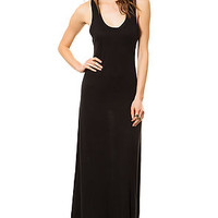 The Eco Racer Maxi Dress in True Black