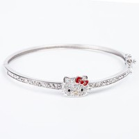 Hello Kitty Clasp Bracelet Crystals: Red Bow