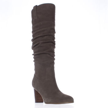 Tommy Hilfiger Trinety Knee High Slouch Boots - Dark Brown