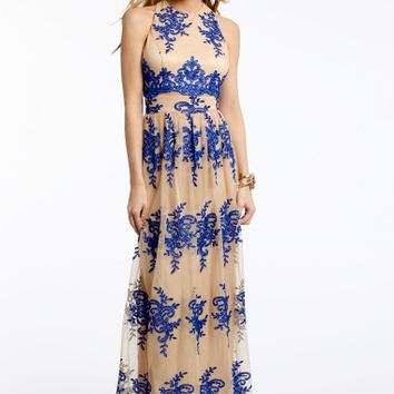 Embroidered Mock Two-Piece