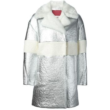 Moncler Gamme Rouge mink fur collar coat