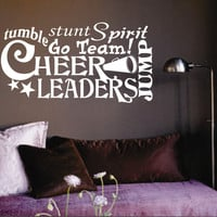 Cheerleader Word Collage | Wall Lettering | Vinyl Decals
