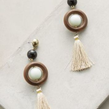 Varu Tassel Earrings by Anthropologie in Brown Size: One Size Earrings