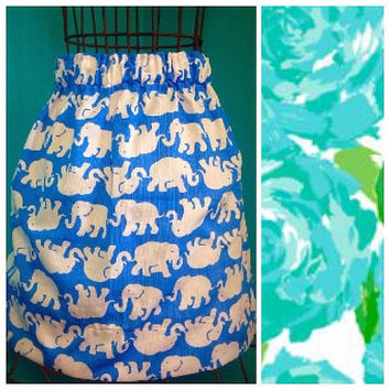 Custom Lilly Pulitzer Poolside First Impressions Skirt