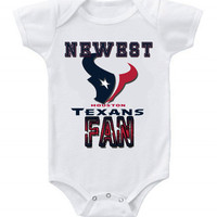 NEW Football Baby Bodysuits Creeper NFL Houston Texans #2