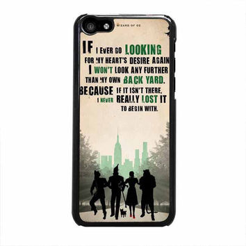 the wizard of oz poster movie quote iphone 5c 4 4s 5 5s 6 6s plus cases