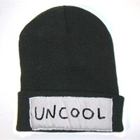 UNCOOL Cuffed Knit Beanie Black - One Size