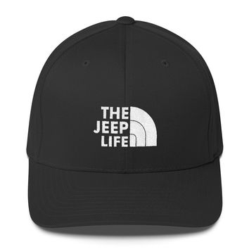 The Jeep Life flex fit low profile hat