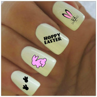 Easter Nail Decal 20 Bunny Vinyl Adhesive Decals Nail Tattoos Nail Art