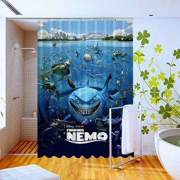 Nemo and Friends with Pixar Pattern Art Custom Design Shower Curtain 60x72