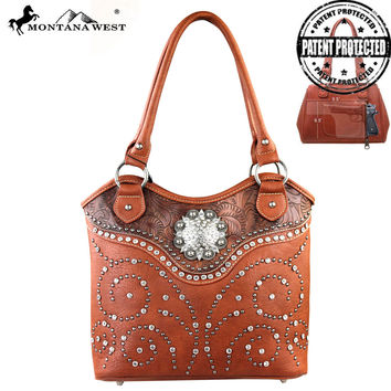 Montana West MW160G-8005 Concealed Carry Handbag