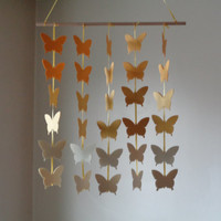 Yellow ombre Butterfly hanging paper mobile! Baby Nursery mobile, Crib mobile. Boy/Girl/Teen/Tween mobile. Gift, Birthday