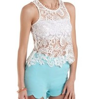 Shimmer Lace Swing Tank Top by Charlotte Russe
