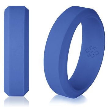 Cobalt Blue Silicone Ring