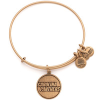 Alex and Ani Carolina Panthers Ladies Logo Rafaelian Gold Finish Bracelet