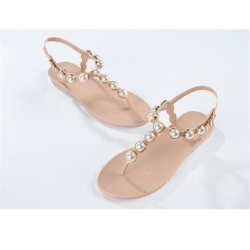 women shoes women s flip flop shoes rc t flip flops rhinestone pearl sandals female fl  number 1