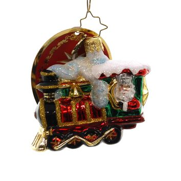 Christopher Radko ALL ABOARD LITTLE GEM Glass Train 1019174