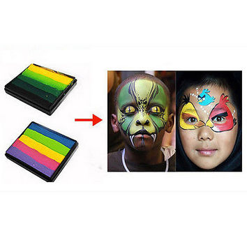 Rainbow Body Face Paint Makeup Painting Pigment Multicolor Series Body Art HU