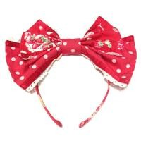 Sweet Jam Head Bow in Red from Angelic Pretty