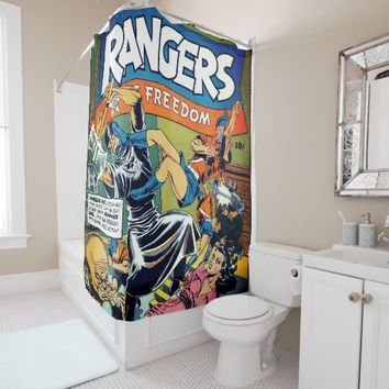 Rangers of Freedom Comics #3 Shower Curtain