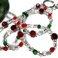 Christmas Angels on a Lanyard Id Badge Holder Necklace